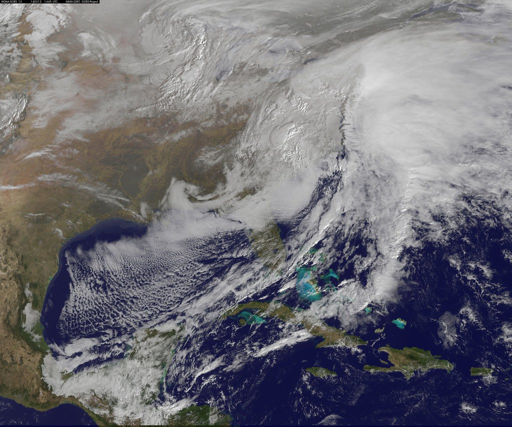 Satellite Views Powerful Winter Storm Battering Mid-Atlantic and New England