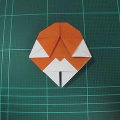 การพับกระดาษเป็นที่คั่นหนังสือหมีแว่น (Spectacled Bear Origami)  โดย Diego Quevedo 029