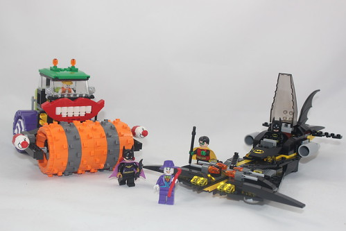 The Joker Steam Roller Lego Kit