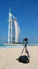 Taking a Gigapan picture of the Burj Al Arab