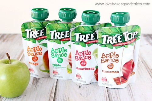 Tree Top Apple Sauce Pouches provide an easy way for your kids to enjoy fruit on-the-go, and are a great option for getting more fruit into kids' diets. #TreeTopMainSqueeze #ad