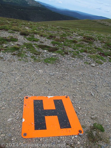 The helicopter pad in the middle of the Ute Trail West, Rocky Mountain National Park, Colorado
