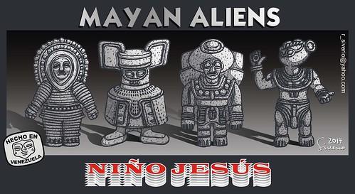Mayan Aliens (Alienígenas Mayas) by Niño Jesús
