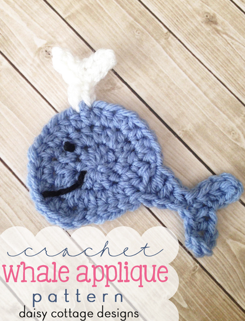 Use this whale crochet pattern to add a nautical feel to your next crochet project. This free crochet pattern from Daisy Cottage Designs is quick and easy to make!