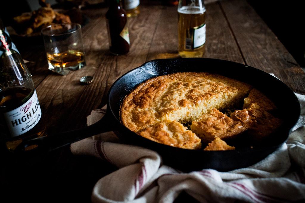 fried chicken + cornbread