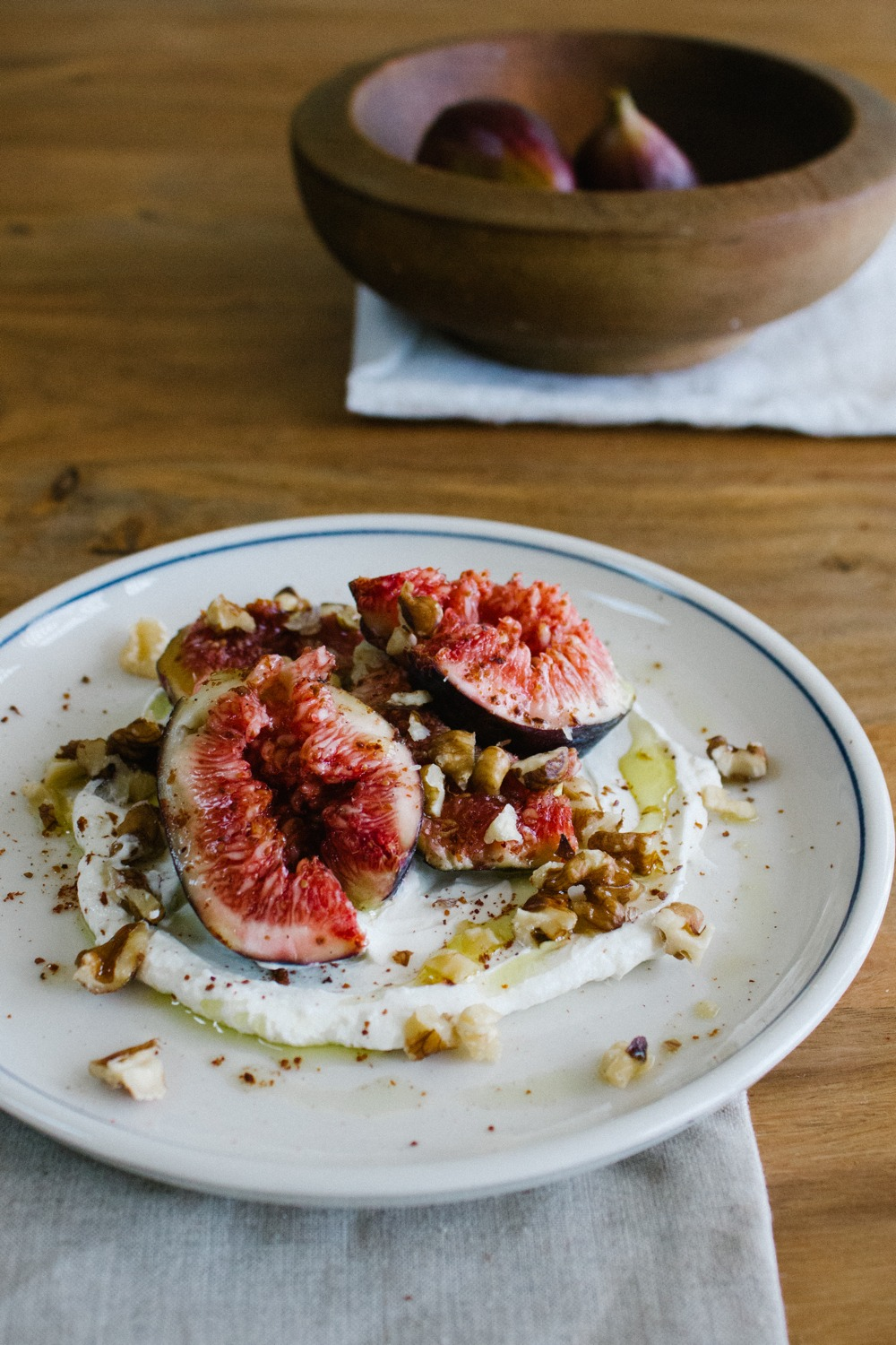 Smashed Figs with Labneh, Walnuts and Sumac | Simple Provisions