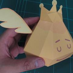 วิธีทำโมเดลกระดาษตุ้กตาสัตว์เลี้ยง หยดทองจากเกมส์ คุกกี้รัน (LINE Cookie Run Gold Drop Papercraft Model - クッキーラン  「黄金ドロップ」 ペーパークラフト) 020