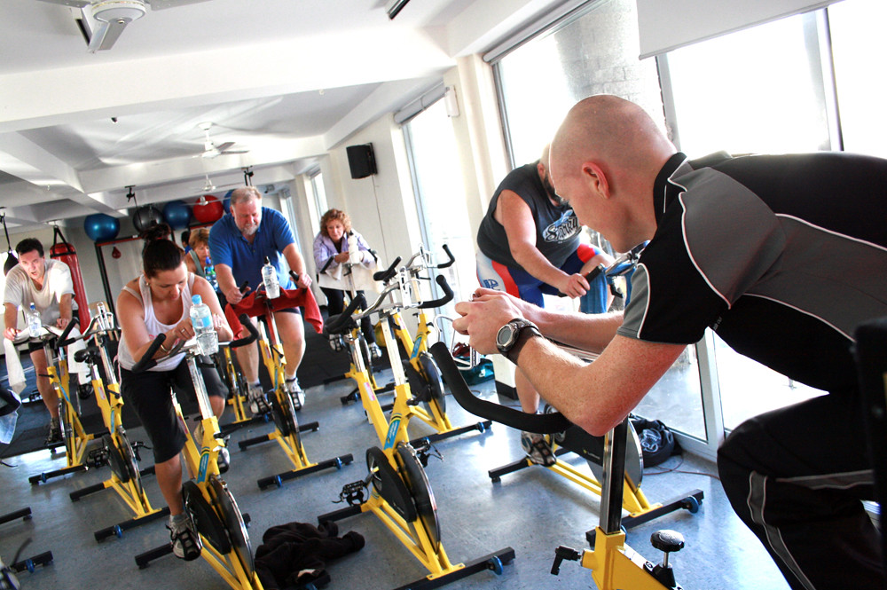 Cycle Class at the Gym