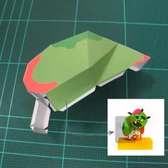 วิธีทำโมเดลกระดาษตุ้กตา คุกกี้ รัน คุกกี้รสซอมบี้ (LINE Cookie Run Zombie Cookie Papercraft Model) 005