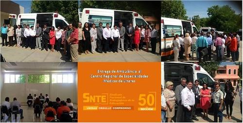 SNTE entrega ambulancia fabricada por AEERSA