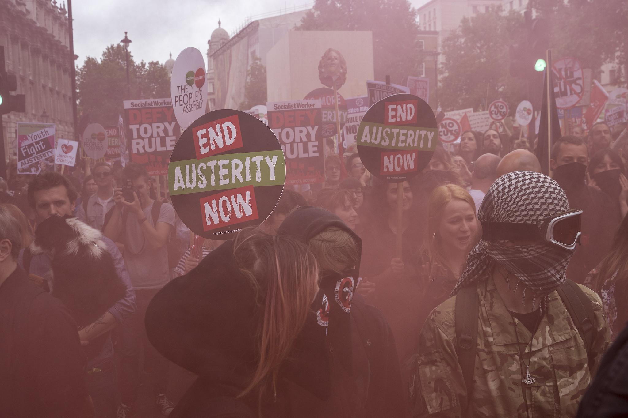 london anti-austerity demonstration