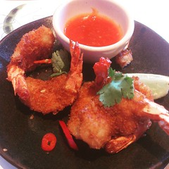 Edi katsu. Prawns with chilli and garlic sauce