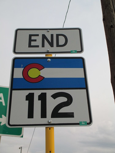 usa signs colorado end roadsign highwaysign 112 stateroute112 stateroutesign endsigns