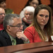 Rep. Stephanie Cummings listens to a speaker during a public hearing in the Public Health Committee.