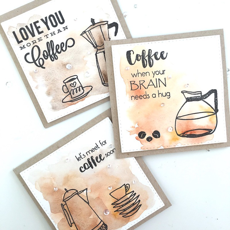 Coffee card set