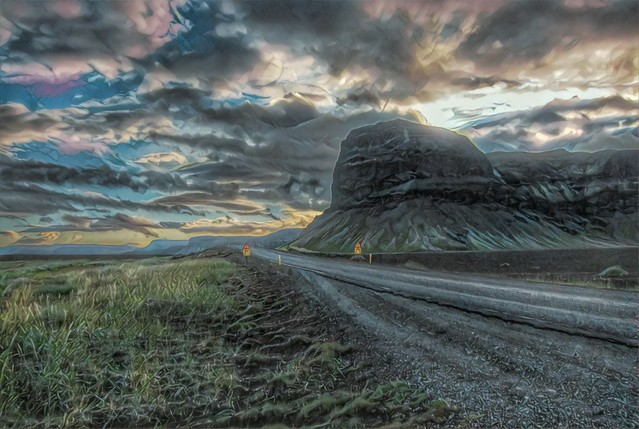 Iceland ~ Landmannalaugar Route ~  Ultramarathon is held on the route each July ... HDR ~ Driving to the Capitol