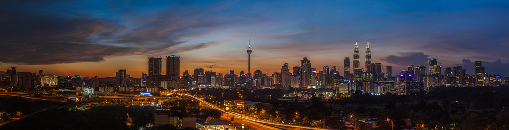 KL City: Blue hour