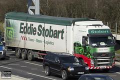 Volvo FH 6x2 Tractor - PX11 BWB - Christina Corinne - Eddie Stobart - M1 J10 Luton - Steven Gray - IMG_7670