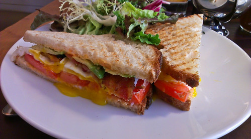 Breakfast Club Sandwich at Cafe Cluny - West Village, NYC