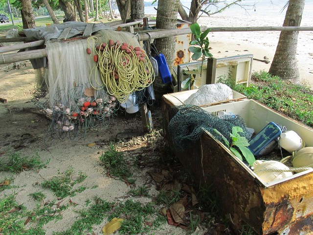 Fishing gear for canoe fishing on Labuan Island Malaysia