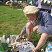 Small photo of Stone Carver Tom Clark in action