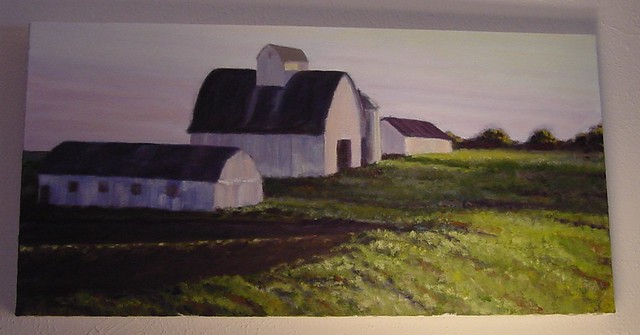 Evening barns in progress