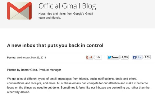 Official Gmail Blog: A new inbox that puts you back in control