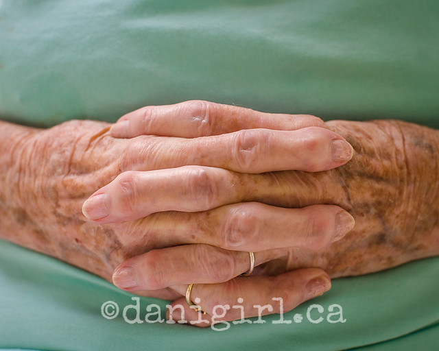 photo of hands of a senior citizen