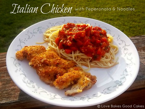 Italian Chicken with Peperonata & Noodles