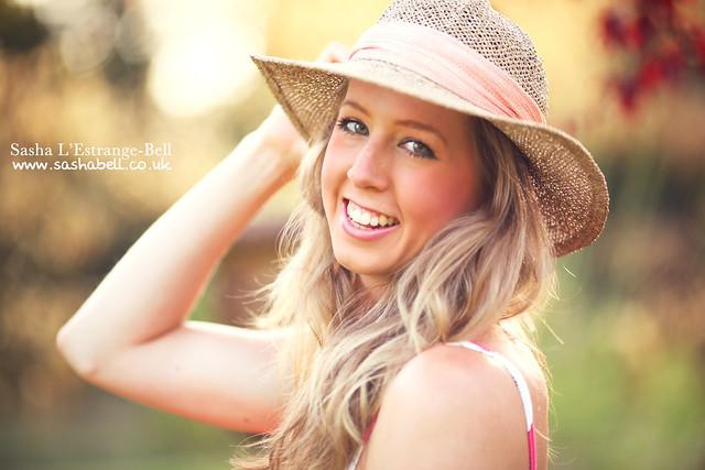 Portrait of Girl in Sun Hat