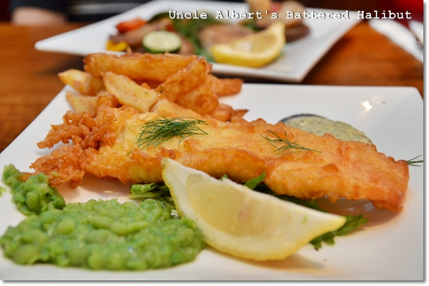 Uncle Albert's Battered Halibut