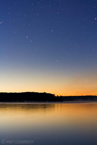 lake water sunrise canon stars landscape outdoors michigan 7d westmichigan stoneylake oceanacounty canonefs50mmf18 canoneos7d stoneylakemi