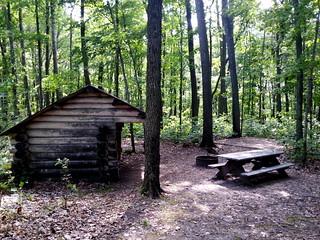 Continental Divide Trail walk-in campsite
