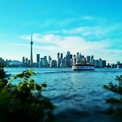 Ferrying By A Metropolitian Skyline
