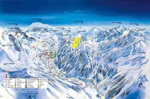 Isola 2000 - mapa sjezdovek