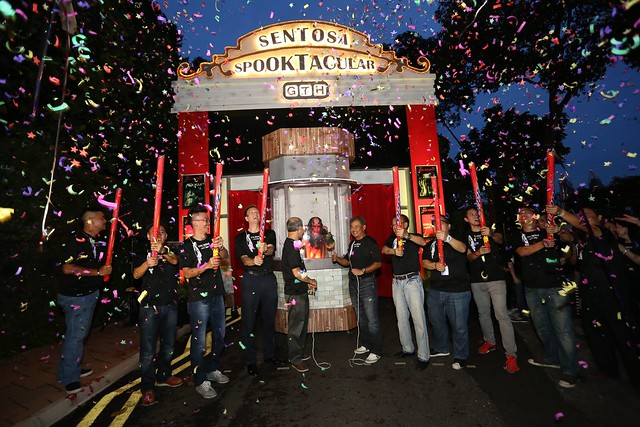 confetti shower officially opens sentosa spooktacular 2013