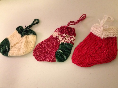 Mini holiday stocking ornaments by roguecrafter