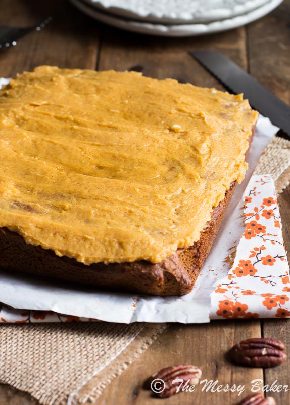 Pumpkin Caramel Pecan cake with Pumpkin Buttercream Frosting-8916