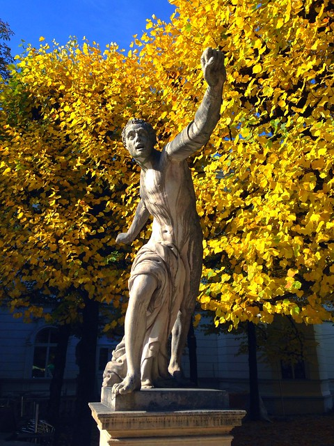 Statue at the entrance to the Mirabell gardens
