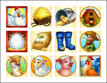 free Henhouse slot game symbols