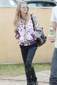 Cara Delevingne Floral Bomber Jacket Celebrity Style Women's Fashion