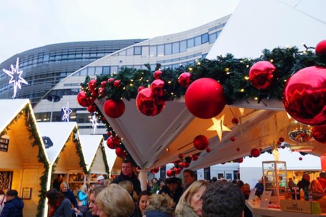 Dusseldorf Christmas market snow village