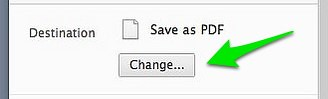 Google Chrome: CHANGE Print Destination