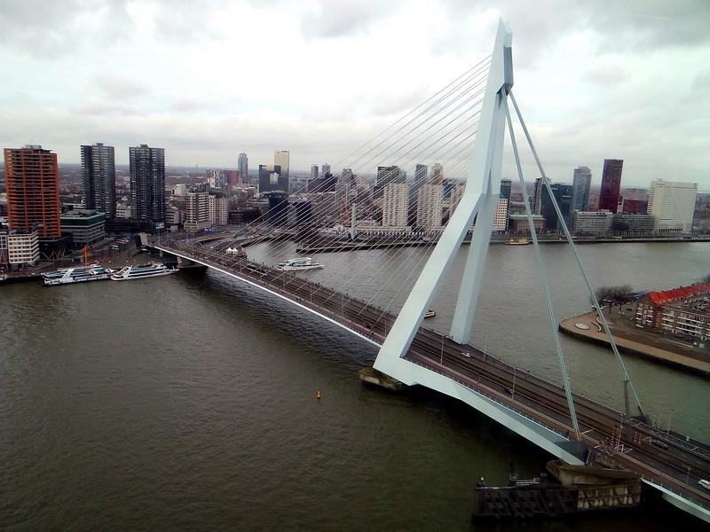 De Rotterdam uitzicht Erasmusbrug