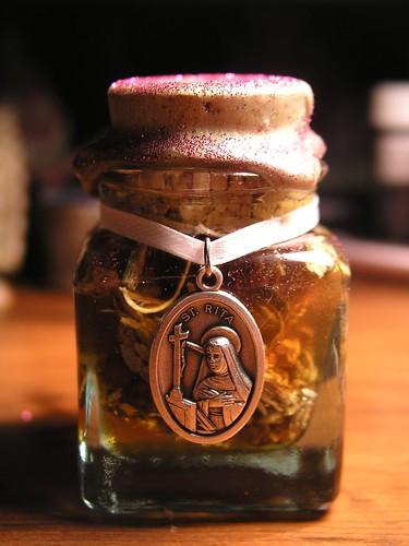 Saint Rita honey jar