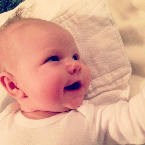 Baby smiles! It feels like everyone grew up a little while I was away. #dailysolveig