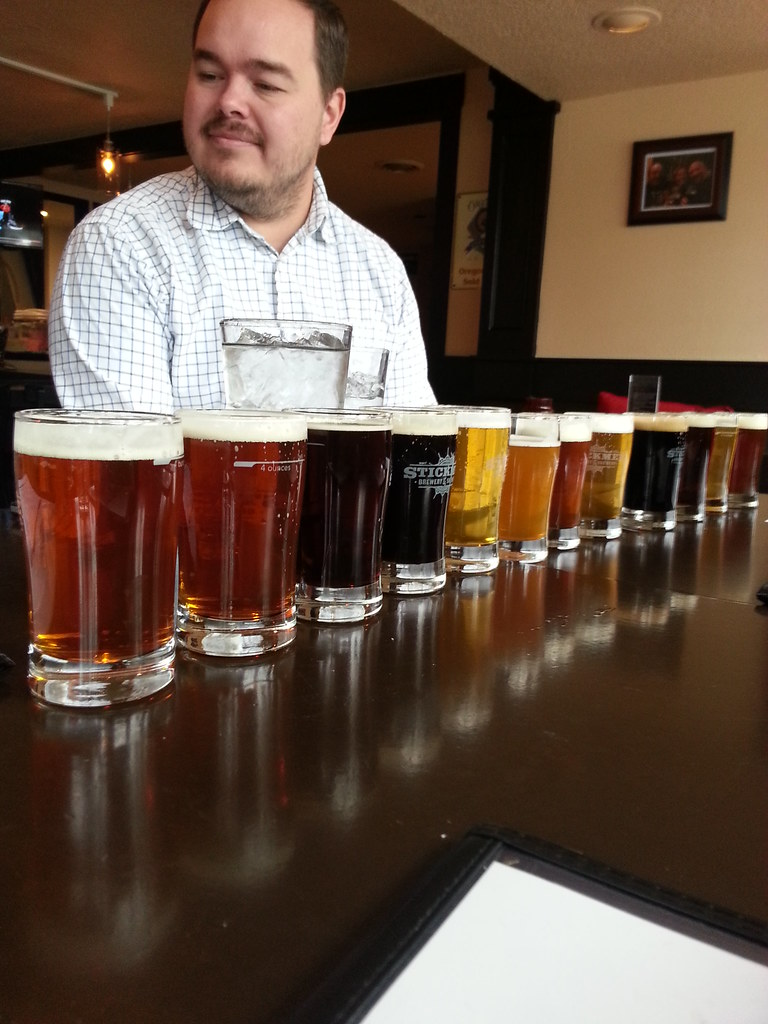 Tasting at Stickmen Brewery, Lake Oswego Oregon