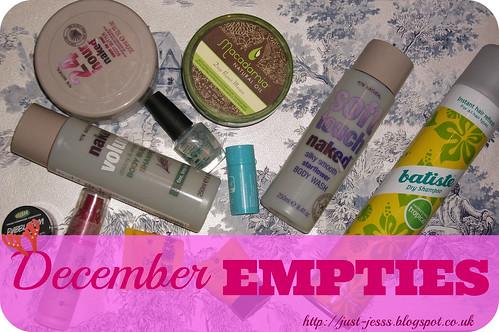 December 2013 Empties