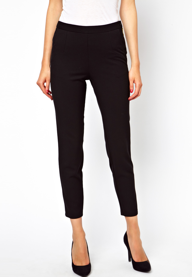 ASOS Skinny Trousers with Zip Detail