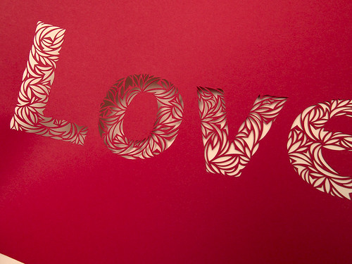 Love- Paper Cut Typography-3